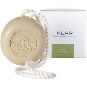 Klar Seifen Pflege Seifen Olive Lavendel Haar- und Körperseife mit Kordel 250 g