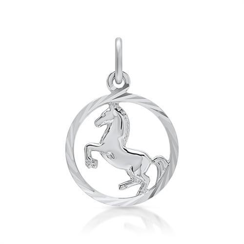 925 Silber Anhänger Pferd