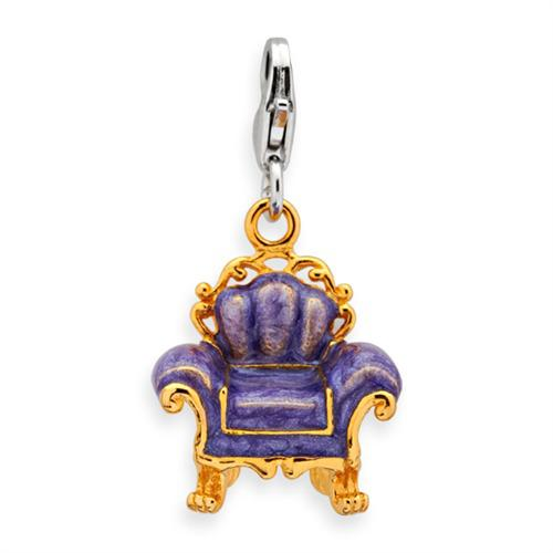 Exklusiver 925 Silber Sessel Charm zum Einhängen
