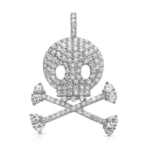 Moderner Piraten Anhänger aus 925 Silber