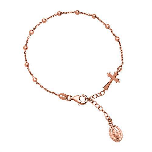 Silberarmband mit Heiligenanhänger