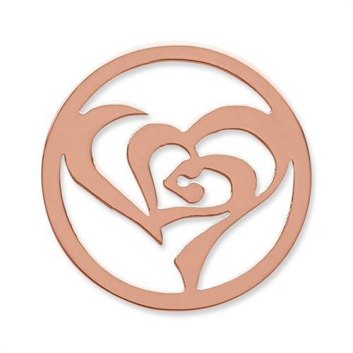 Münze Edelstahl stilisiertes Herz roségold