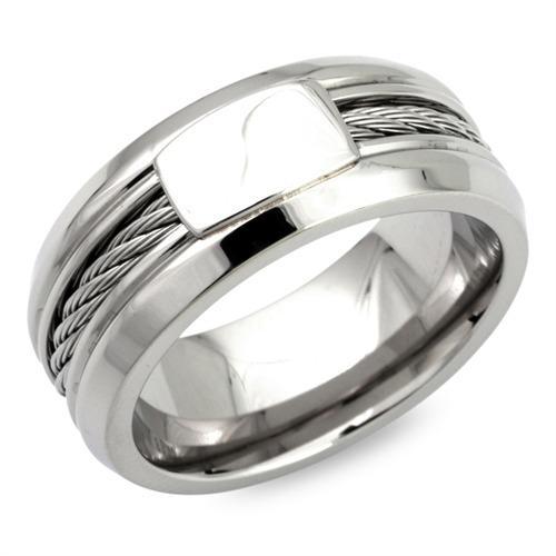 Hochwertiger Ring Edelstahl mit Stahlseileinlage