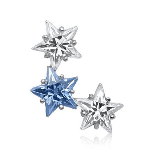 Modischer Sternen Anhänger 925 Silber