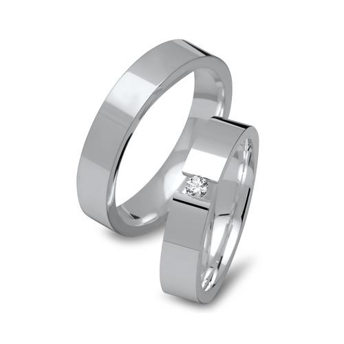 Hochzeitsringe 925 Silber mit Aussengravur