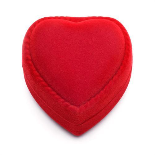 Rotes Geschenketui Herz für Verlobungsringe