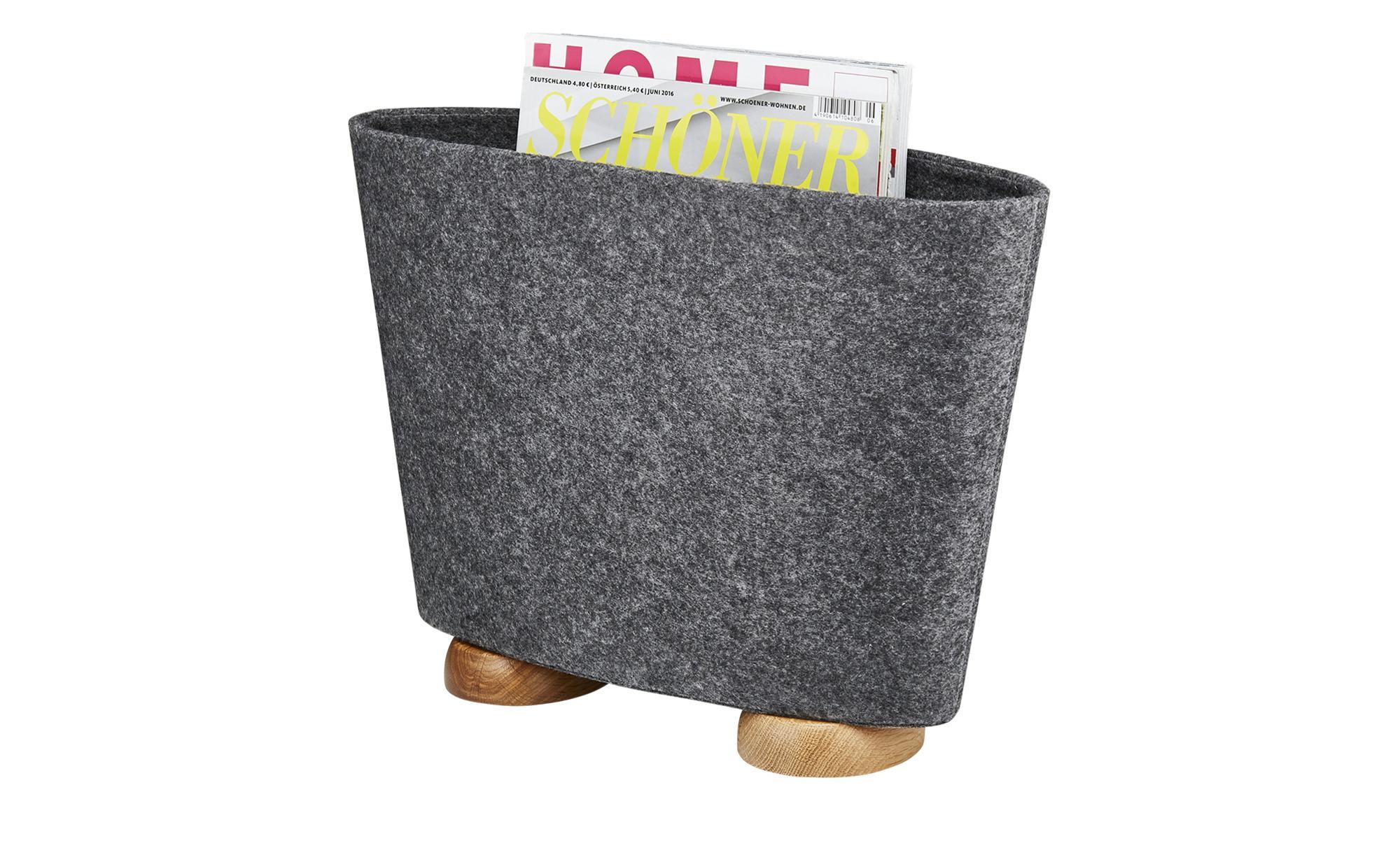 Zeitungsständer - grau - Filz - Möbel Kraft