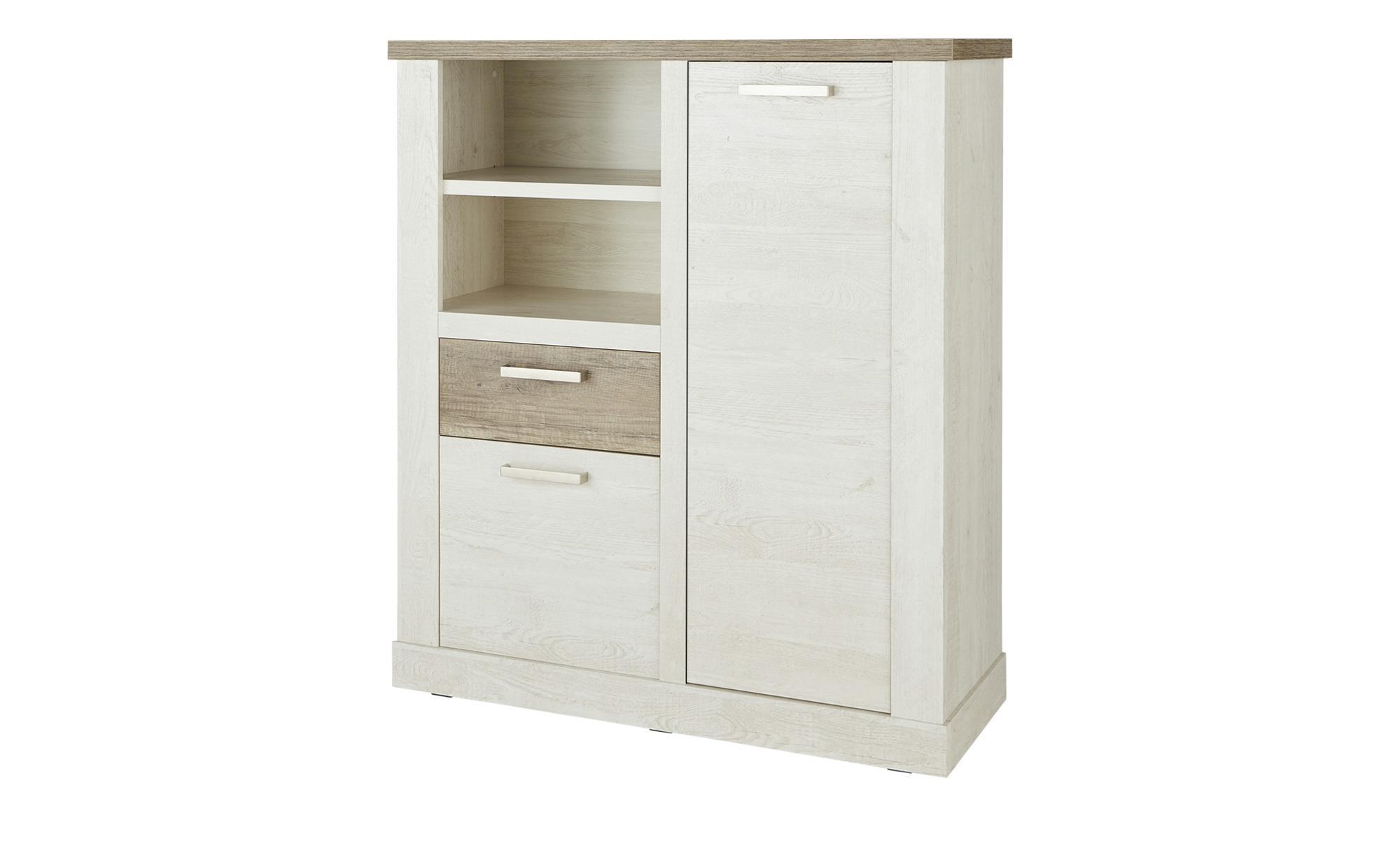 Highboard - weiß - 110 cm - 128 cm - 41 cm - Sconto