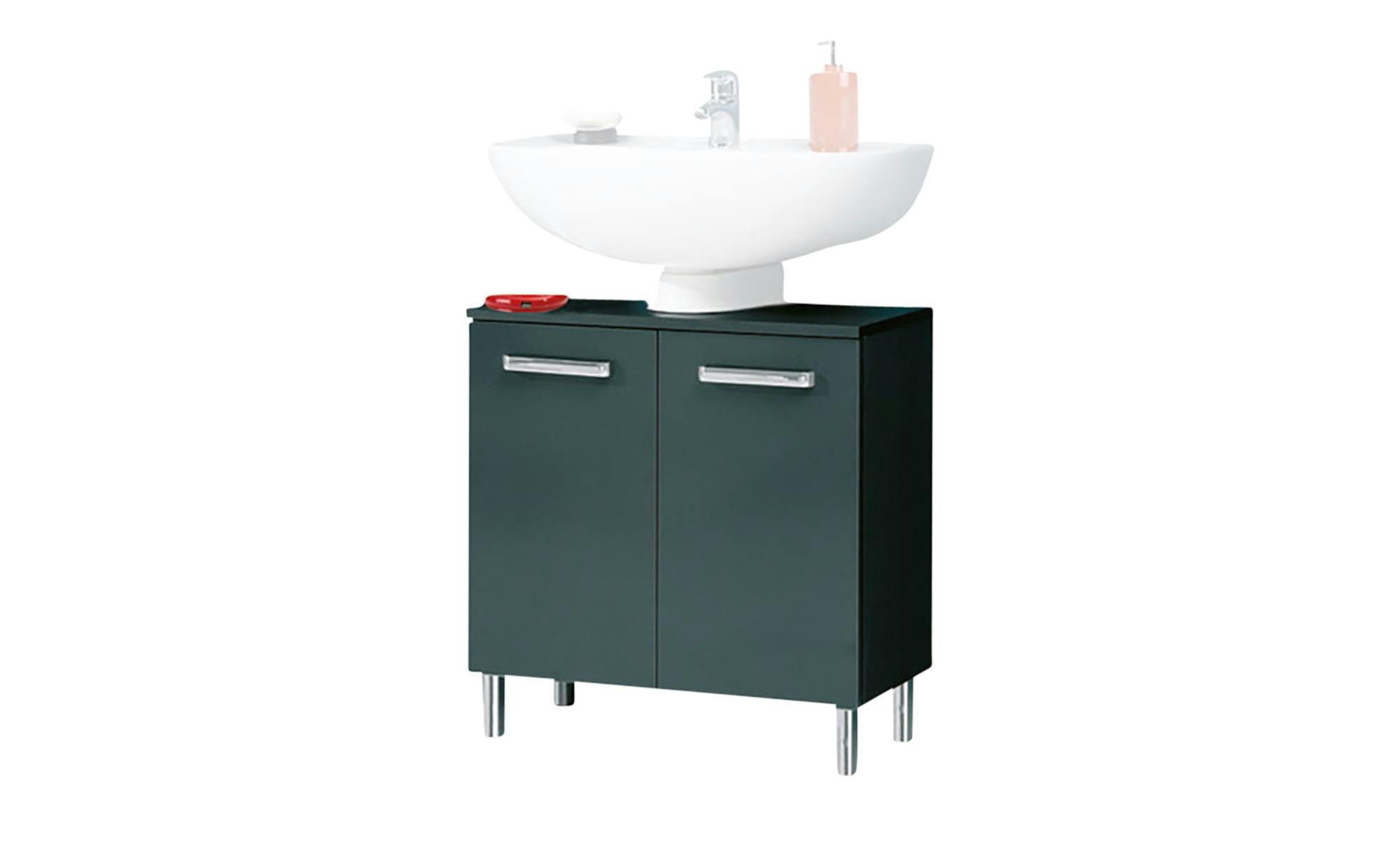 Waschbeckenunterschrank Murau - grau - Sconto
