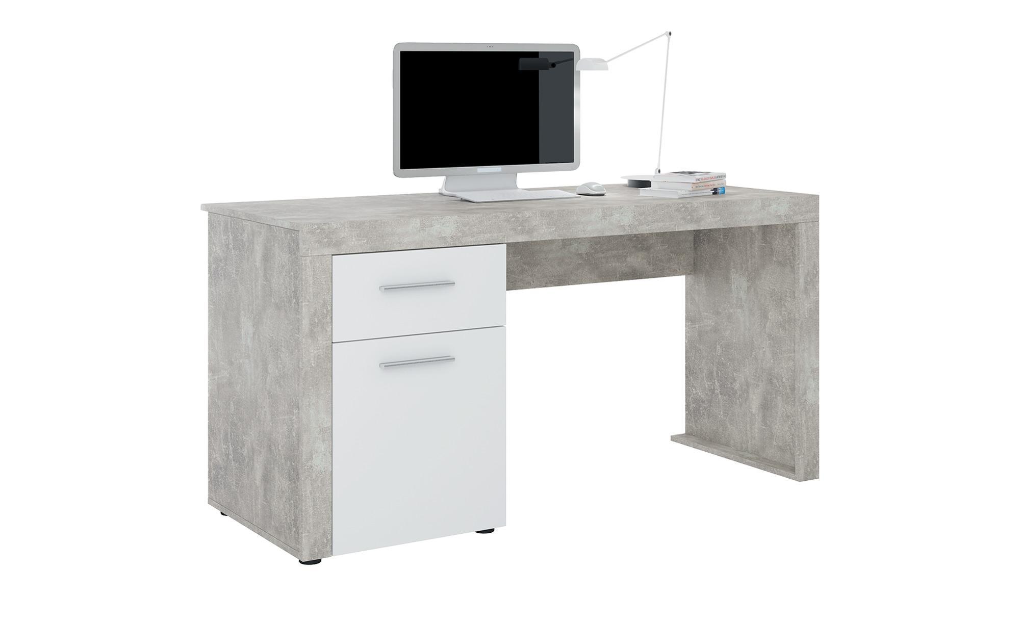 Schreibtisch Fürth - grau - Sconto