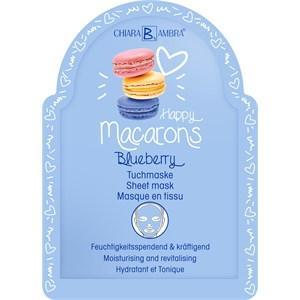 Chiara Ambra Pflege Masken Happy Macarons Blueberry Tuchmaske 25 ml