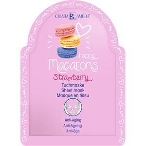 Chiara Ambra Pflege Masken Happy Macarons Strawberry Tuchmaske 25 ml