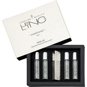 LENGLING Parfums Munich Unisexdüfte No 9 Wunderwind Travel Set Deluxe Etui & Extrait de Parfum 4 x 8 ml