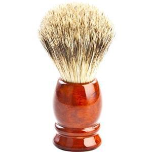 ERBE Shaving Shop Rasierpinsel Rasierpinsel Dachshaar, Metallgriff silber glänzend 1 Stk.