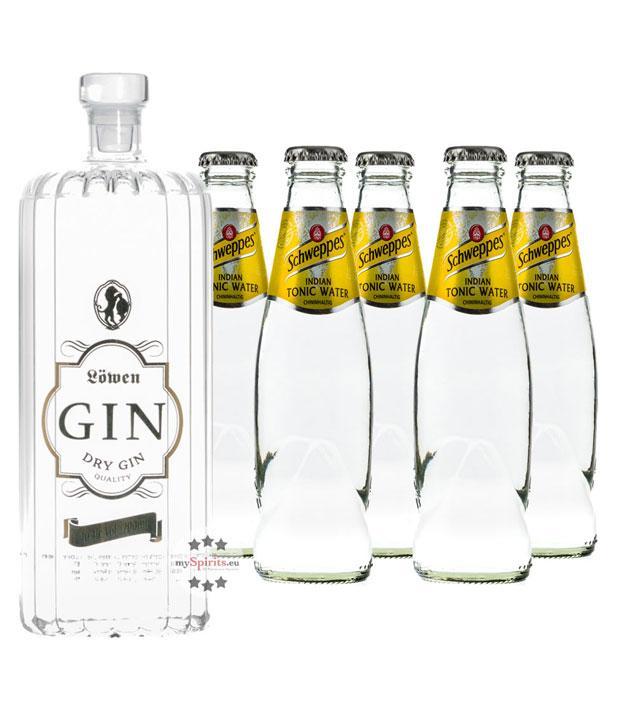 Löwen Dry Gin & Schweppes Indian Tonic Set (40 % vol., 1,7 Liter)