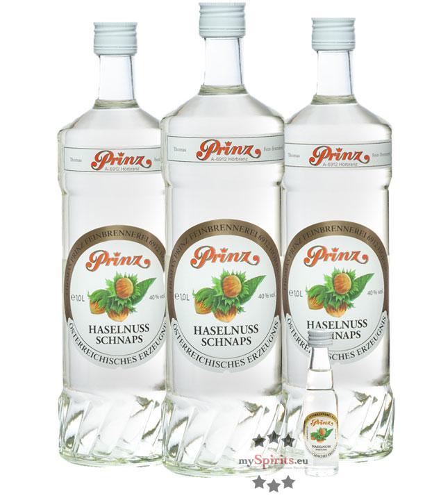 Prinz: Haselnuss-Schnaps 3er-Set (40 % Vol., 3,0 Liter)