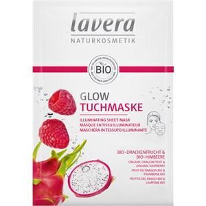 Lavera Gesichtspflege Faces Masken Bio-Drachenfrucht & Bio-Himbeere Glow Tuchmaske 21 ml