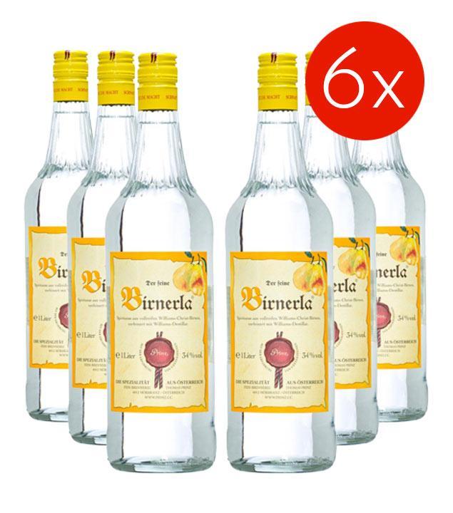 Prinz Birnerla / 34% Vol. - 6 Flaschen (34% Vol., 1,0 Liter)