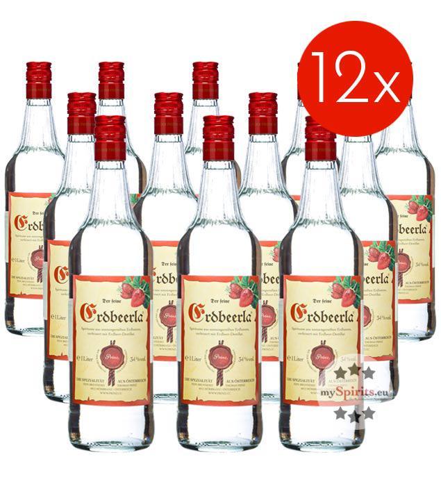 Prinz Erdbeerla / 34% Vol. - 12 Flaschen (34% Vol., 1,0 Liter)