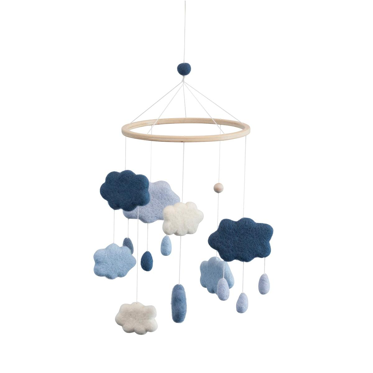 Sebra - Baby Mobile Wolken, denim blue