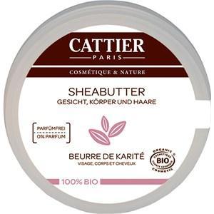 Cattier Pflege Körperpflege 100% biologisch Sheabutter 100 g