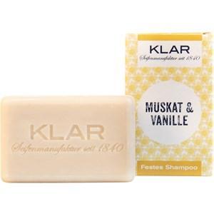 Klar Seifen Pflege Seifen Festes Shampoo Muskat & Vanille 100 g