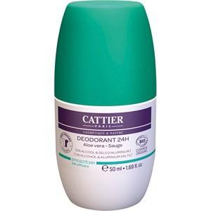 Cattier Pflege Körperpflege Aloe Vera & Salbei Deodorant 24H Roll-On 50 ml