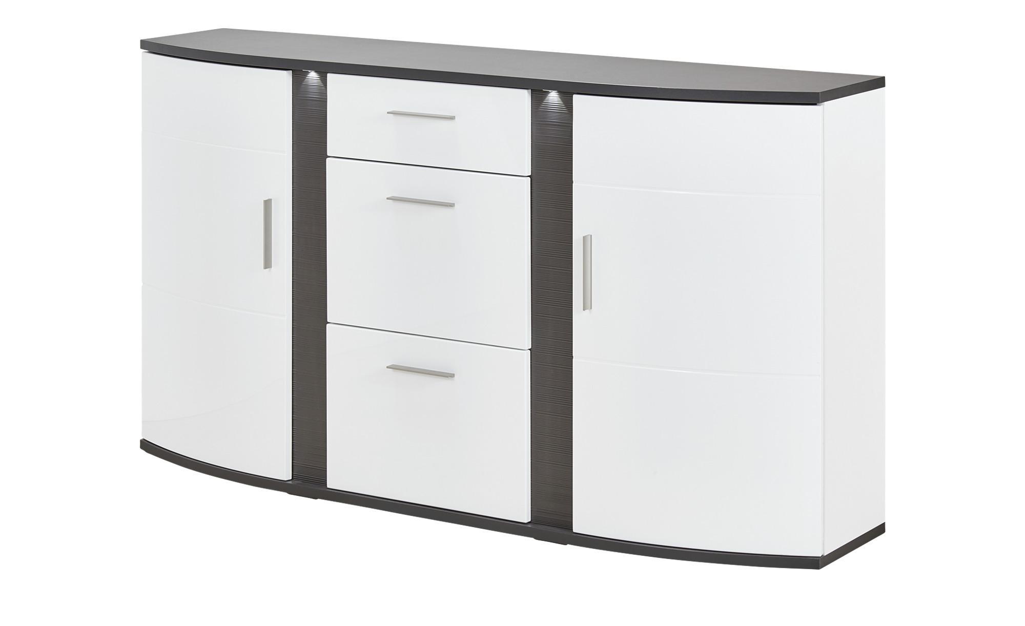 uno Sideboard Grasse - weiß - 164 cm - 94 cm - 41 cm - Sconto