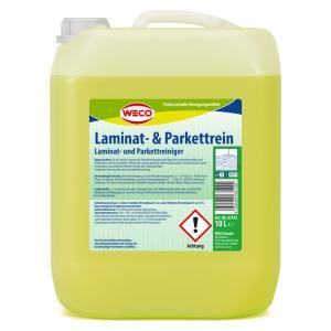 WECO Laminat- & Parkettrein , Für die Unterhaltsreinigung und Pflege aller wasserfesten Böden, 10 l - Kanister