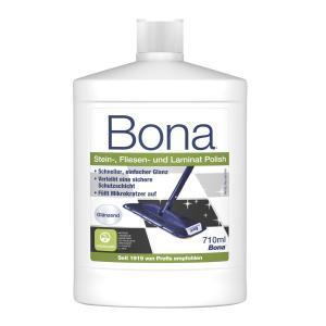 Bona Stein-, Fliesen- und Laminat-Polish Glanzpflegemittel, Pflegemittel verleiht neuen Glanz und schützt lang anhaltend vor Verschleiß, 710 ml - Flasche