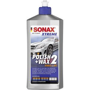 SONAX XTREME Polish+Wax 2 Hybrid NPT Lackpolitur & Wachs, Schonende Politur - mittlere Polierwirkung, 500 ml - Flasche