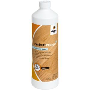 LOBACARE® ParkettPflege+ für lackierte Holzböden, Universelles Pflegemittel für lackierte Holz- und Parkettfußböden, 1000 ml - Flasche