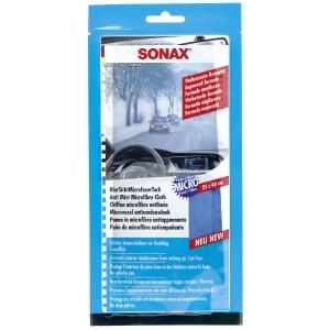 SONAX KlarSicht Microfasertuch, Fusselfrei, schützt Innenscheiben vor Beschlag, 1 Tuch, 25 x 40 cm