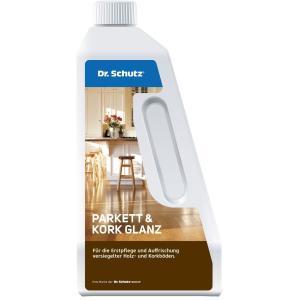 Dr. Schutz® Parkett und Kork Glanz, Für die Erstpflege und Auffrischung versiegelter Holz- und Korkböden, 750 ml - Flasche