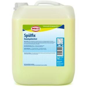 WECO Spülfix Handspülmittel, Für alle Spül- und Reinigungsvorgänge in Gastronomie, Industrie und Haushalt, 10 Liter - Kanister
