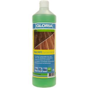 GLORIA Holz/WPC Spezial-Reiniger, Löst selbst öl- und fetthaltige Verschmutzungen, 1000 ml - Flasche