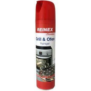 Reinex Premium Grill & Ofen Reiniger, Entfernt sicher und schnell Eingebranntes, Fettschmutz und Ruß, 400 ml - Dose