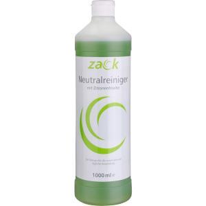 ZACK Neutralreiniger mit Zitronenfrische, Ein wirksamer Reiniger für die universelle und tägliche Anwendung, 1000 ml - Flasche