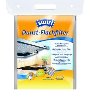 Swirl® Dunst-Flachfilter, Abzugshauben-Filter für alle gängigen Flachhauben, Format: 47 x 57 cm, 1 Packung = 2 Stück
