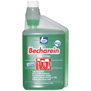 Dr. Becher Becharein Gläser Reiniger, Glasreinigung in der praktischen Dosierkammerflasche, 1 Liter - Flasche