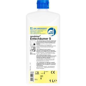 Dr. Weigert neodisher® S Entschäumer, Flüssigkonzentrat verhindert die Schaumbildung in Spezialspülmaschinen, 1 Liter - Flasche
