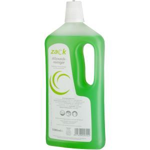 ZACK Allzweckreiniger, Zitrone, Ein kraftvoller Flächenreiniger mit Zitronenfrische, 1000 ml - Flasche