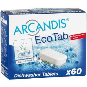 Kiehl ARCANDIS®-Eco Tab Geschirrspültabs, Geschirrspültabs für Haushaltsspülmaschinen, 1 Paket = 60 Stück
