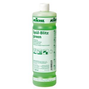 Kiehl Spül-Blitz green Geschirrreiniger, Fettlösender Geschirrreiniger auf Basis nachwachsender Rohstoffe, 1000 ml - Flasche