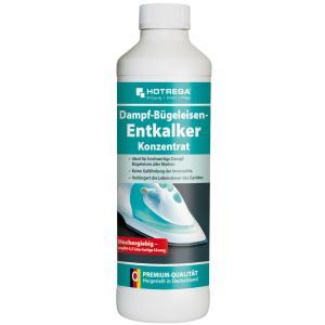 HOTREGA® Dampf-Bügeleisen-Entkalker Konzentrat, Materialschonender Bio-Entkalker, 500 ml - Flasche