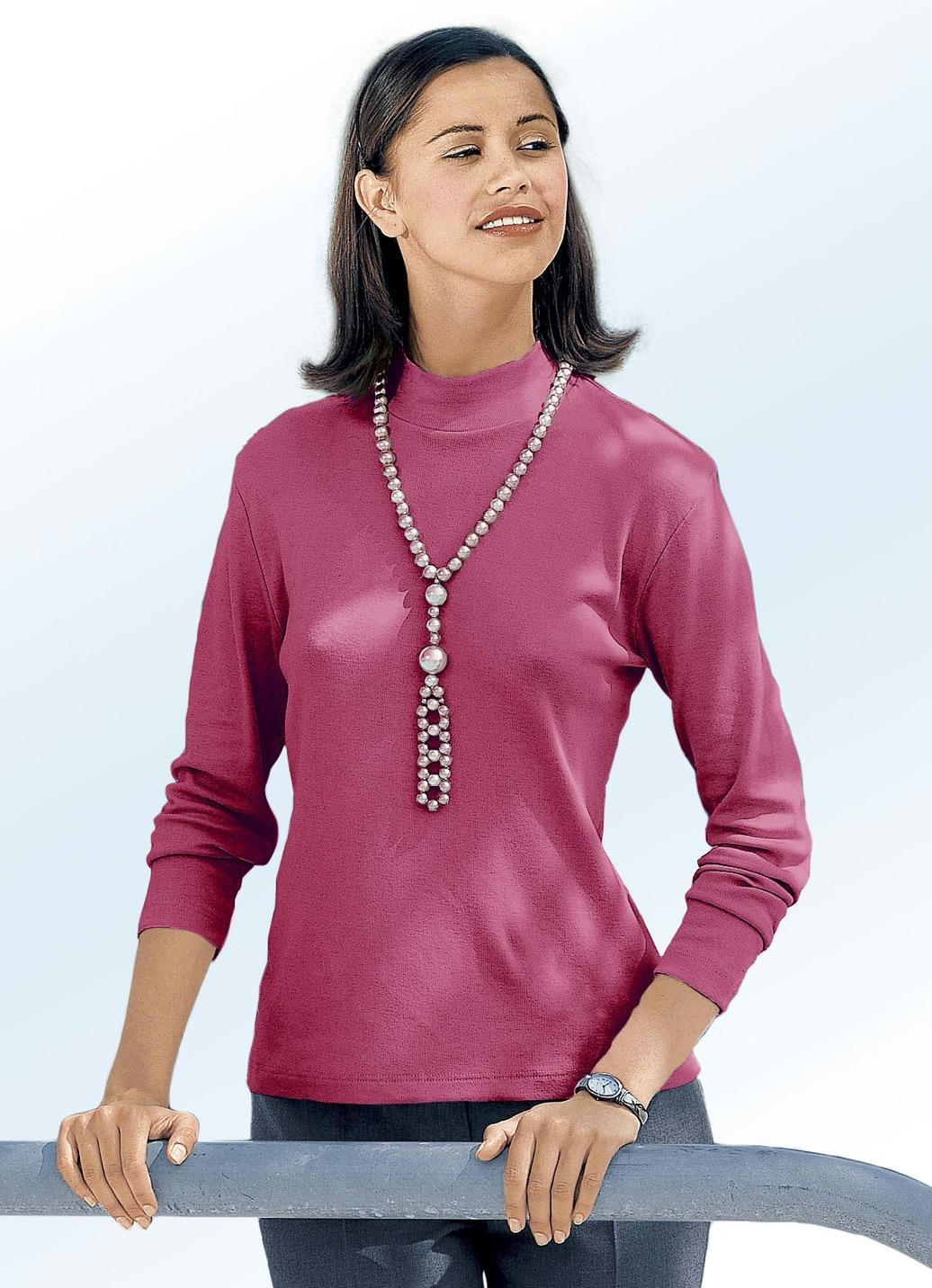 Flottes Shirt in 15 Farben, Brombeere, Größe 34