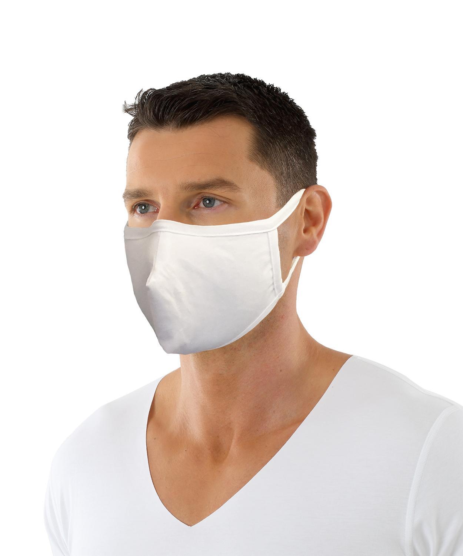 Mund und Nasen Maske aus Bio-Baumwolle mit Nasenbügel zweilagig, 5 Stück - 5