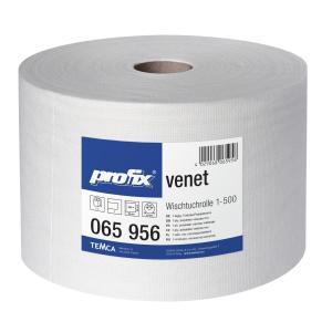 profix® venet Wischtuchrolle, 36 x 28 cm, hochweiß, Wisch- und Poliertuch, perforiert, 1 Paket = 1 Rolle = 500 Abrisse