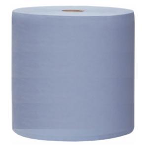 Putzpapier aus Zellstoff/Altpapier, 3-lagig, 38 x 36 cm, 1000 Blatt, Farbe: blau, 1 Rolle