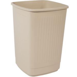 Bekaform Papierkorb, 50 Liter, creme, Quadratischer Mülleimer aus Kunststoff, Farbe: creme, Volumen: 50 Liter
